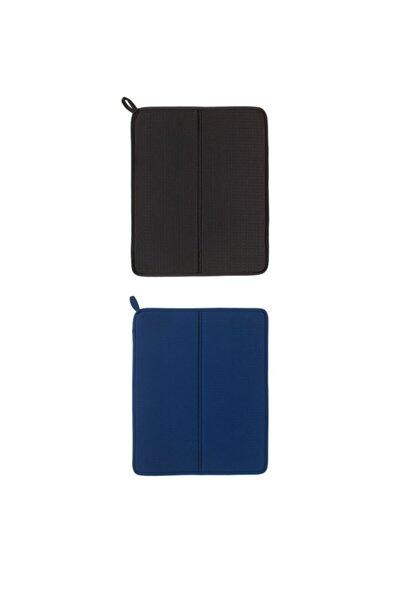 Nysköljd Bulaşık Kurutma Örtüsü, Koyu Mavi + Koyu Gri 2 Adet