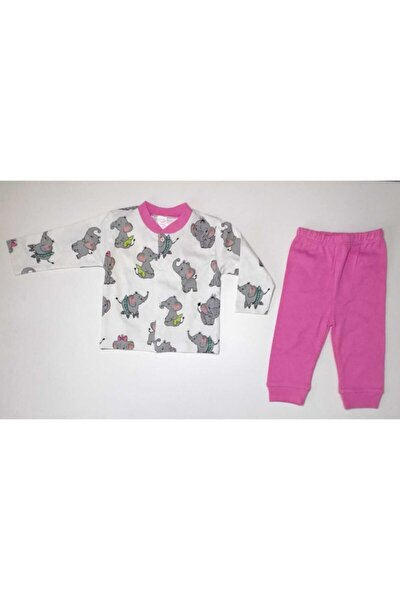Fil Baskılı Bebek Pijama Takımı