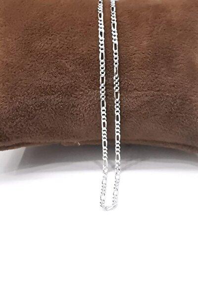 Silver Unisex Extra Ince Figaro 1,9 Mm 925 Ayar Gümüş Kolye Zincir Omr8181