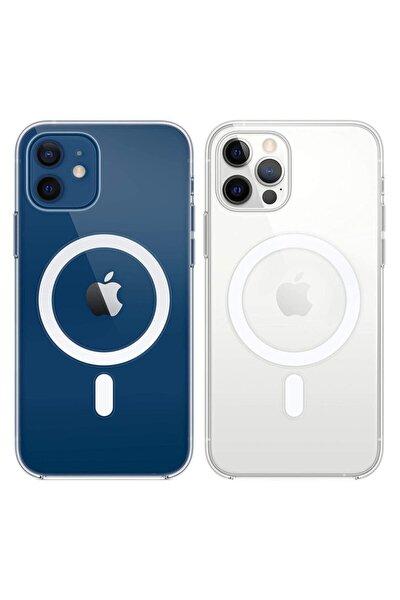 Iphone 12 Pro Max Uyumlu Magsafe Özellikli Şeffaf Kılıf