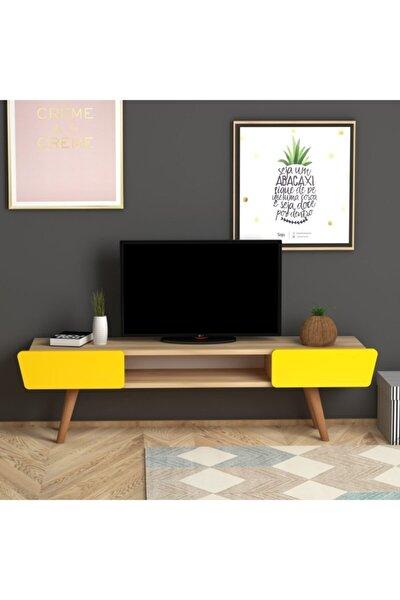Meşe Sarı Butterfly Tv Sehpası