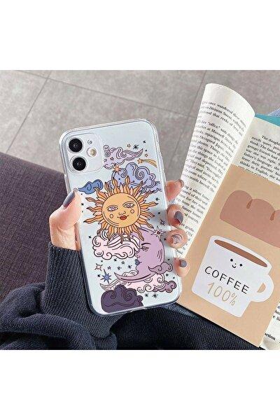 Iphone 11 Güneş Ve Ay Tasarımlı Telefon Kılıfı