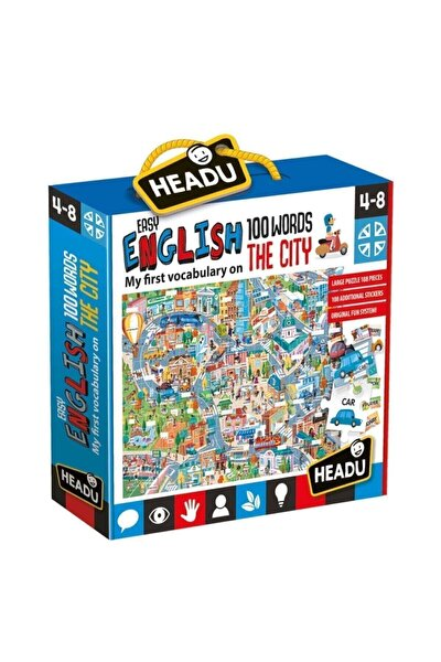 Headu 100 Ingilizce Kelimeli Şehir Yapbozu