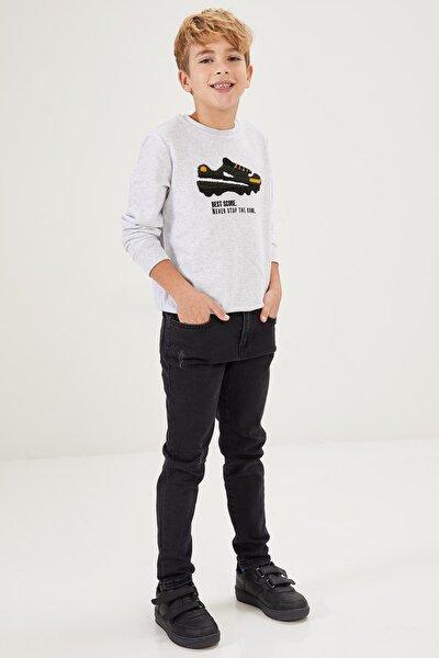 Erkek Çocuk Yıpratmalı Skinny Fit Jean Pantolon