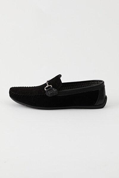 Siyah Süet Erkek Loafer Ayakkabı Tb100