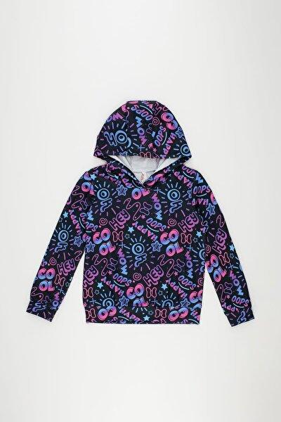 Kız Çocuk Popart Baskı Desenli Sweatshirt