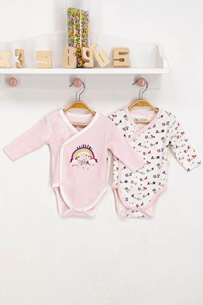 U.s. Polo Assn Lisanslı Bebek Uzun Kol Kuruvaze Body Zıbın 2'li Takım Usb040