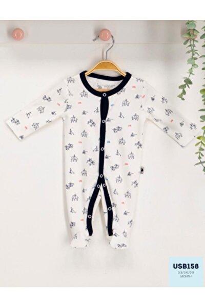 U.s. Polo Assn Lisanslı Bebek Uzun Kol Patikli Tulum Usb158
