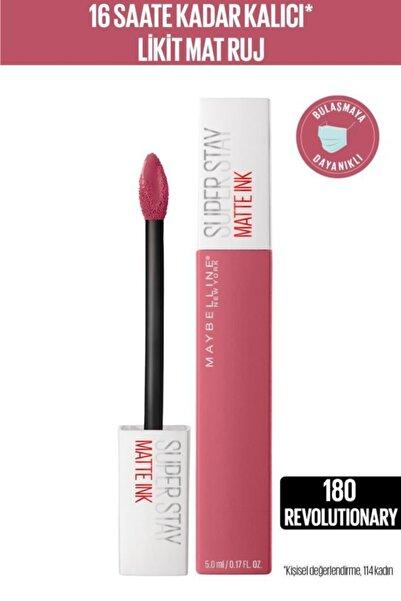 Super Stay Matte Ink Likit Mat Ruj - 180 Revolutionary - Pembe