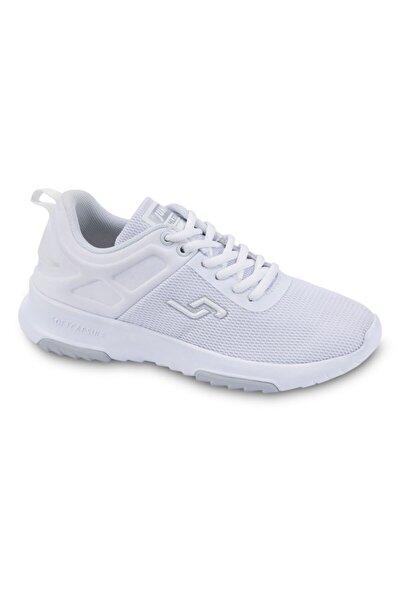 24879 Beyaz Ortopedik Kadın Spor Ayakkabısı.
