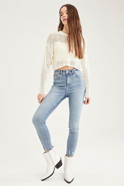 Vintage Skinny Yüksek Bel Jean Pantolon