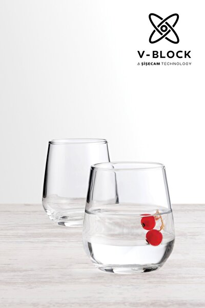 V-Block Antimikrobiyal Allegra 6'lı Kahve Yanı Su Bardağı