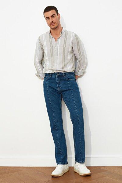 Lacivert Erkek Straight Fit Jeans TMNSS21JE0056