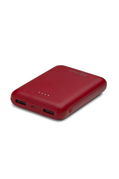 Basic 10.000 Mah. 2 Çıkışlı Taşınabilir Sarj Cihazı Powerbank Kırmızı