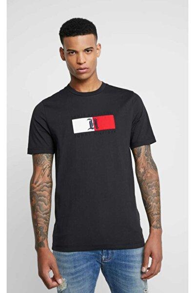 Erkek Siyah T-shirt Lewis Hamilton Embroidered
