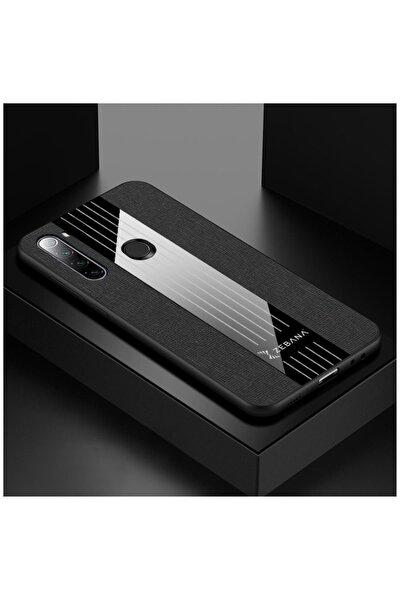 Xiaomi Redmi Note 8 Uyumlu Siyah Elegan Kumaş Telefon Kılıfı