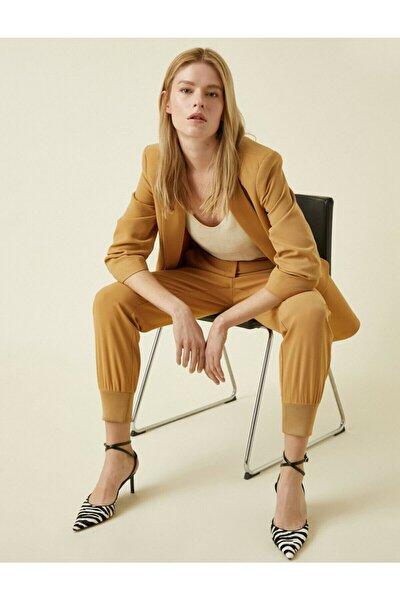 Kadın Kahverengi Cepli Pantolon