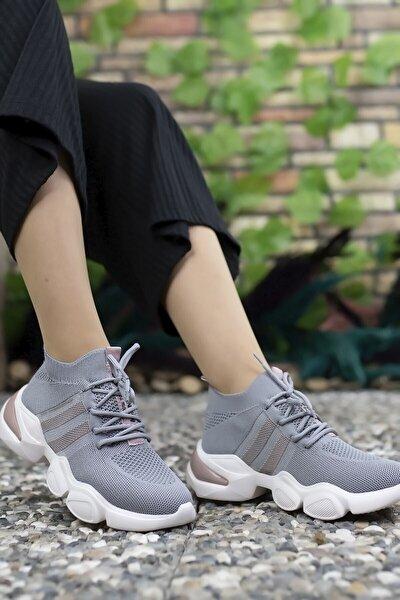 Gri Kadın Sneaker 0012303