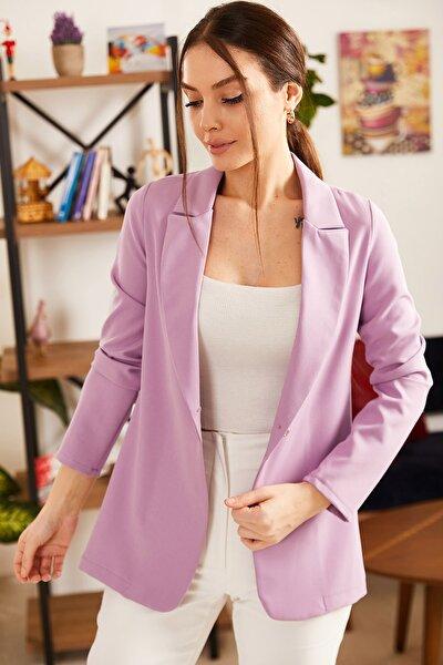 Kadın Lila Tek Düğmeli Ceket ARM-21K001127