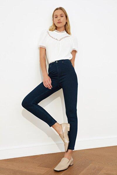 Lacivert Yüksek Bel Skinny Jeans TWOSS20JE0100