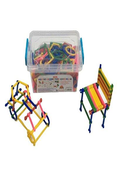 300 Parça Geometrik Çubuklar Bloklar Yapboz Bultak Zeka Renk Algı Eğitici Oyuncak