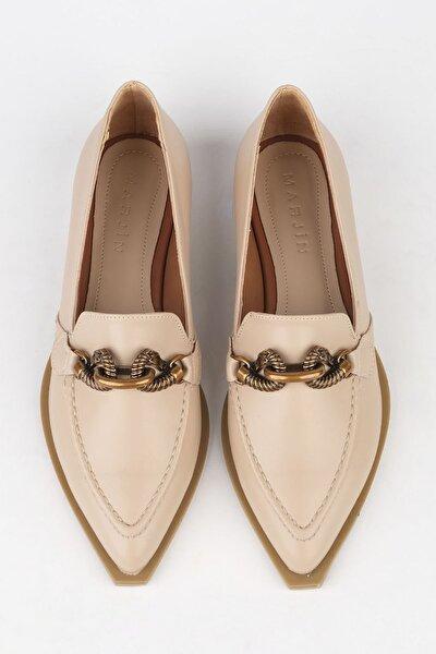 Kadın Bej Loafer Ayakkabı Tolira