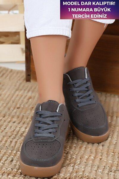 Unisex Gri  Süet Sneaker