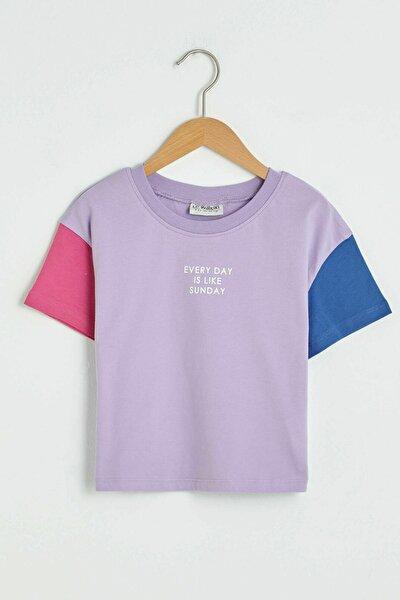 Kız Çocuk Koyu Lila Fkw T-Shirt