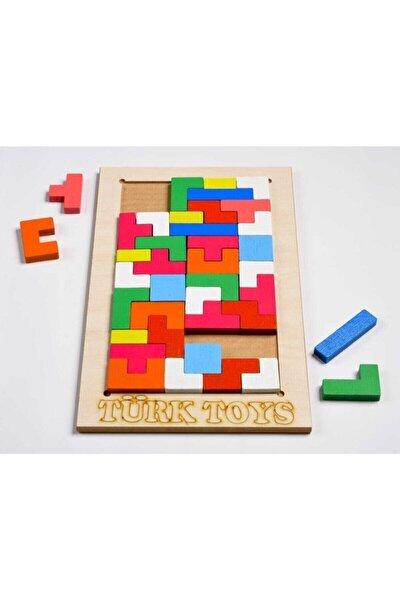 Ahşap Eğitici Bultak Tetris Puzzle Çocuk Oyuncağı