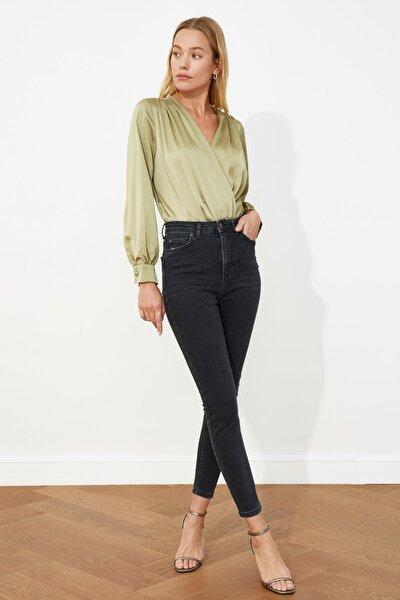 Antrasit Yüksek Bel Skinny Jeans TWOSS21JE0034