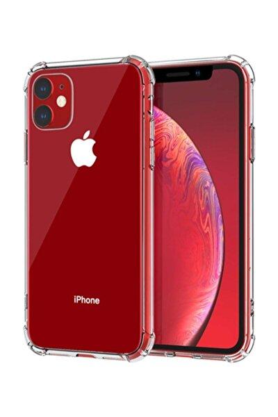Şeffaf Iphone 11 Uyumlu Köşeleri Airbag Korumalı Shield Silikon Kapak Kılıf