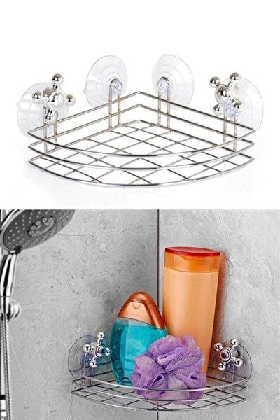 Vantuzlu Köşe Banyo Rafı Ev.03113.00-1