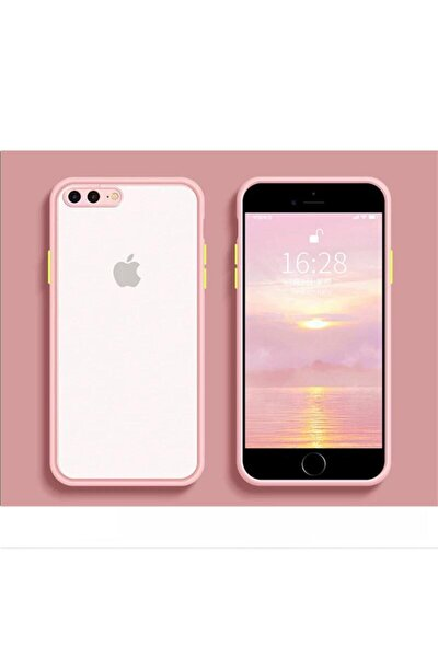 Iphone 7 Plus / 8 Plus Uyumlu Kamera Korumalı Silikon Pembe Kılıf