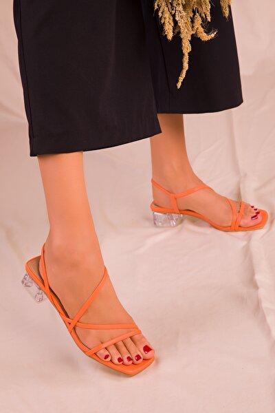 Turuncu Kadın Klasik Topuklu Ayakkabı 15822