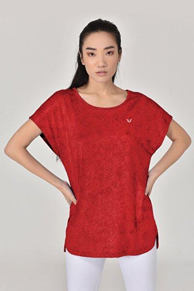 Kadın  Bordo Tshirt 8075