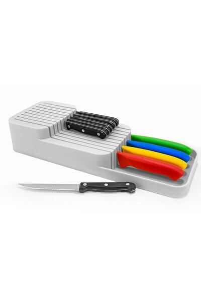 Beyaz Çekmece İçi Bıçak Standı Bıçaklık