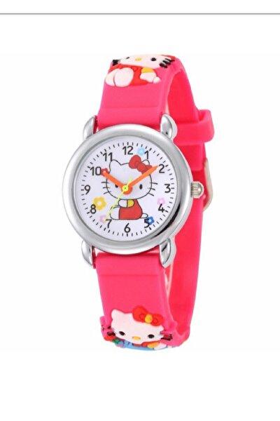Kız Çocuk Pembe Hello Kity Saati Hk1331k