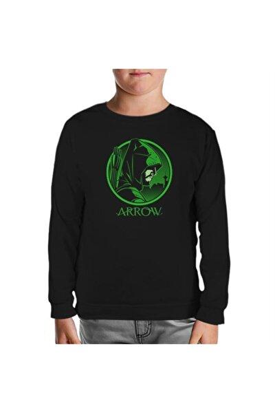 Unisex Çocuk Siyah Sweatshirt