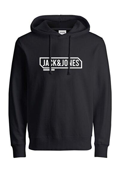 Erkek Siyah Jcocanno Hood Sweatshirt 12191402
