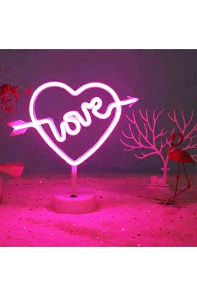 Kalpli Love Neon Led Gece Ve Masa Lambası