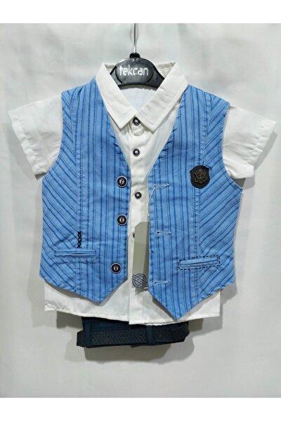 Erkek Çocuk Mavi Takım Elbise
