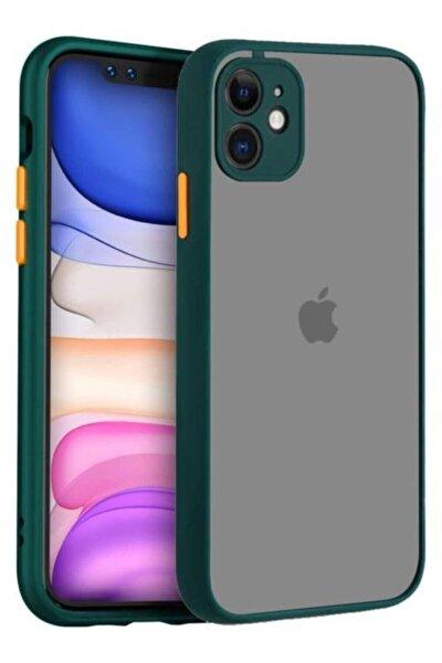 Iphone 11 6.1 Inç Uyumlu Kamera Lens Korumalı Arkası Mat Silikon Telefon Kılıfı