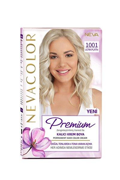 Nevacolor Premium Kalıcı Krem Set Boya 1001 Ultra Platin