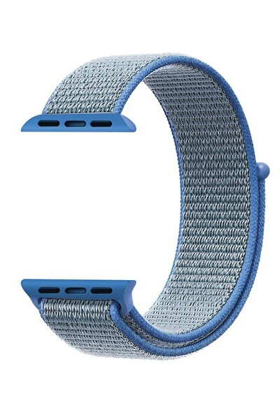 Mavi Apple Watch Dokuma Kordon Kayış - 42mm 44mm