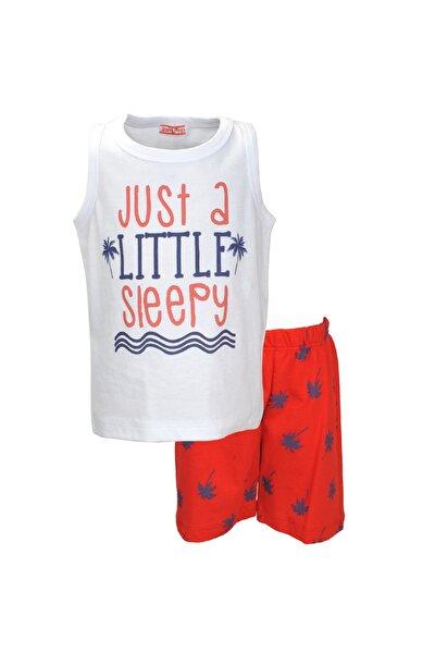 Kırmızı Palmiye Şortlu Pijama Takımı (1-7YAŞ)