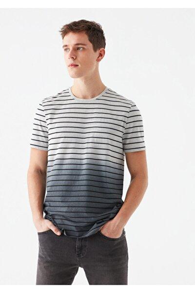 Çizgili Blok Renkli Tişört