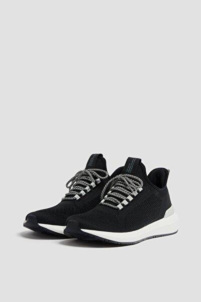 Erkek Siyah Örgü Kumaş Spor Ayakkabı 12307740