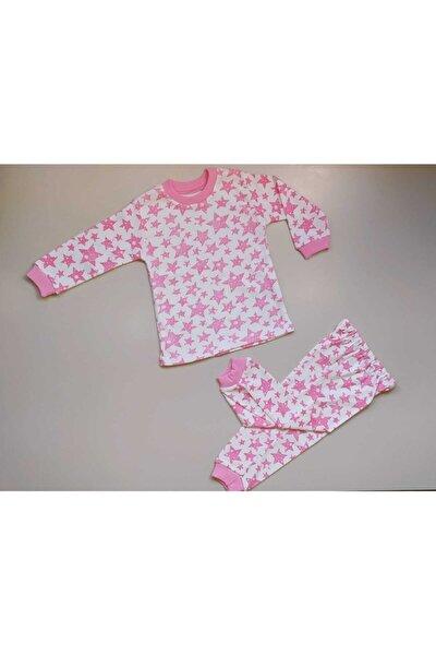 Kız Bebek Pembe Yıldızlı Pijama Takımı