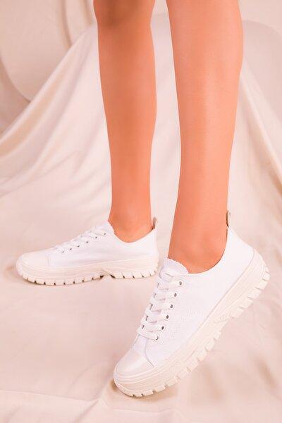 Beyaz Kadın Sneaker 15823