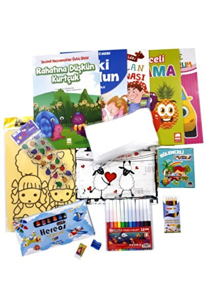 Çocuk Boyama - Okuma Ve Etkinlik Hediye Seti